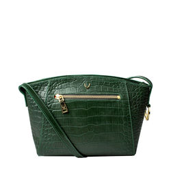 Bonnie 02 Handbag, croco,  emerald