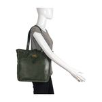 Amber 03 Women s Handbag, Roma,  emerald green