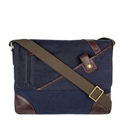 Cherokee 01 Men's Messenger Bag, Canvas E. I Goat,  navy blue