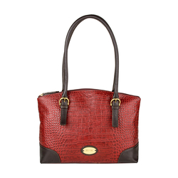 Saturn 01 Sb Women's Handbag, Croco Melbourne Ranch,  red