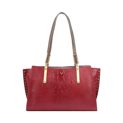 SPEAKEASY 02 WOMEN'S HANDBAG BABY CROCO,  marsala