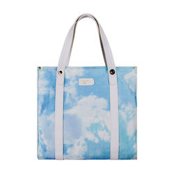 Lionel (C) Shopper Tote, Canvas,  white