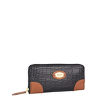 Saturn W2 Sb (Rfid) Women s Wallet, Croco Melbourne Ranch,  black