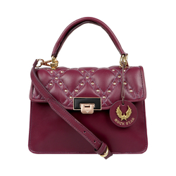 POP 02 WOMENS HANDBAG LAMB,  aubergine