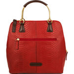Royale 02 Satchel, snake,  red