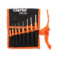 Clarke England Hex Pin Punch Set of 8pcs