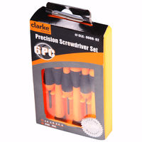 Clarke Precision Screwdriver Set Of 6Pc