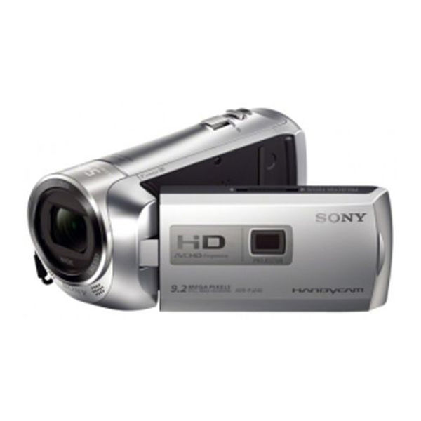 Sony HDR PJ240E Camcorder,  silver
