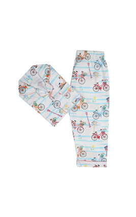 Spring Cycle PJ Set, 6m-12m