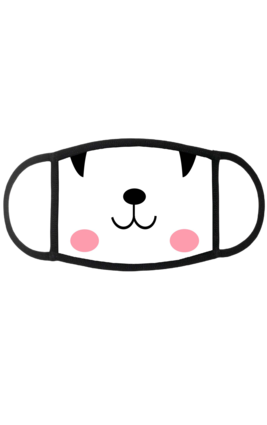 Peekaboo Face Mask (Black & White)