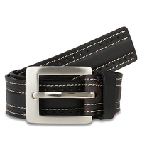47 Maple Black Leather Belt
