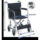 Foldable attendant wheelchair (976ABJ) - Chrome