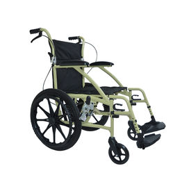 Deluxe wheelchair with compact rear wheels (M603),  metallic champagne