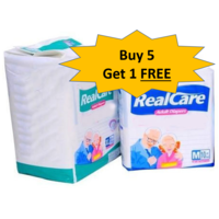 Realcare Regular Diapers - 5+ 1 combo offer, medium