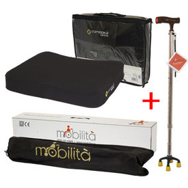 Combo Deal (Mobilita Walking cane+ Verona Cushion)
