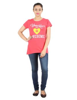 YMF / HEART TEE, m,  red