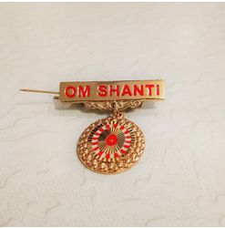 605 - Badge - Shiv Baba - Gold (Small)
