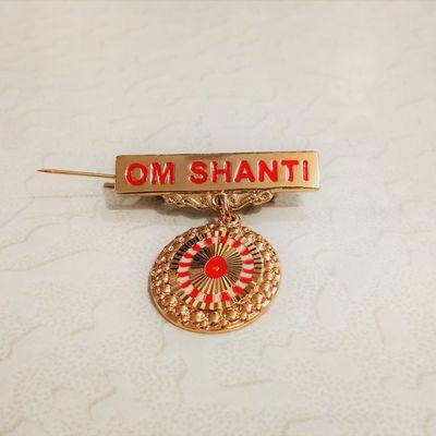 605 - Badge - Shiv Baba - Gold (Small)
