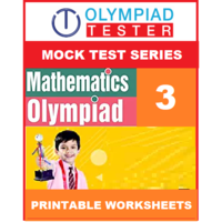 Class 3 Maths Olympiad - 20 Mock tests - Printable Worksheets