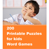 200 printable puzzles for kids- Word Games