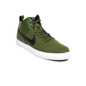 Nike liteforce mid, green black grey, 10