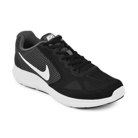 nike revolution 3, dark grey white black, 9