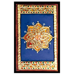 Hrudayakamalam kolam in Tanjore painting, 6 inches by 8 inches