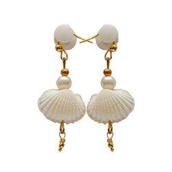 Sea shell ear ring (Small) white
