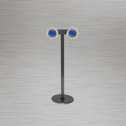 Blue colour round earring