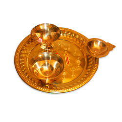 "Pooja Plate (Weight-440 Grms, Diameter-9"" )"