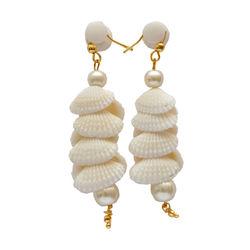 Sea shell Ear ring (Large) white
