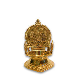 "Ashtalakshmi Lamp (with Annam) (Height-7 1/2"" , Weight-800 Grms, Diameter-3"" )"