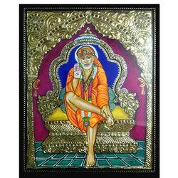 Shirdi Baba at darbar, 12 inch by 15 inch