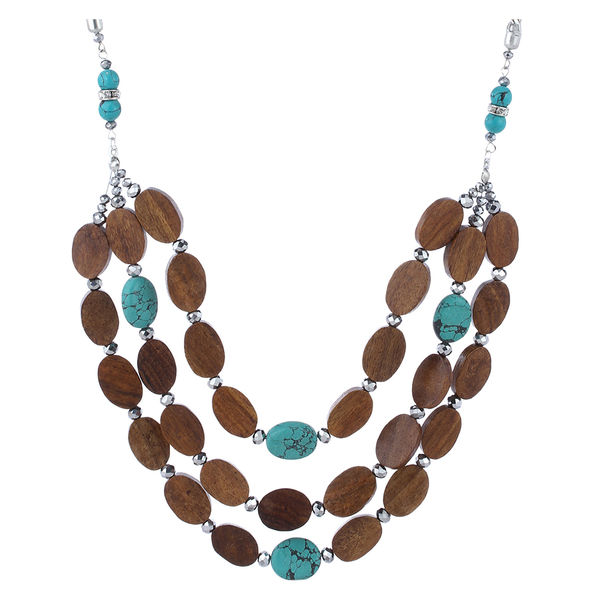 Thingalicious Brown Wood Necklace