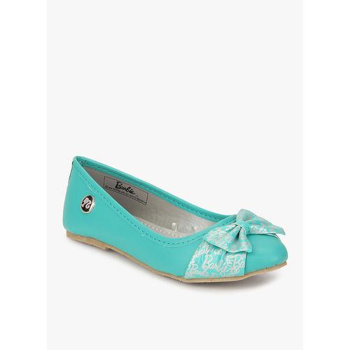 Barbie Aqua Blue Bow Belly Shoes, 35