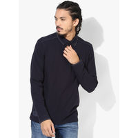 Tom Tailor Solid Polo T-Shirt, m,  navy blue