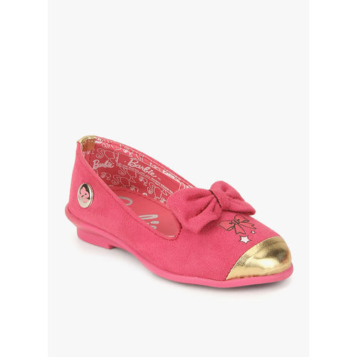 Barbie Fuchsi Metallic Bow Belly Shoes, 28