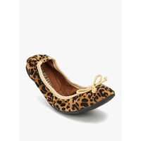 Carlton London Flex Animal Print Belly Shoes, 41,  brown