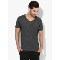 Tommy Hilfiger Graphic V Neck T-Shirt, l,  dark grey