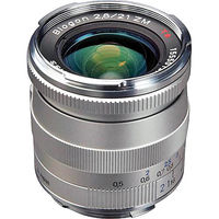 Zeiss 21mm f/2.8 Biogon T* ZM Manual Focus Lens for Zeiss Ikon and Leica M Mount Rangefinder Cameras (Silver)