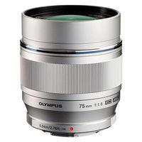 Olympus M. Zuiko ED 75mm f1.8 Lens, silver