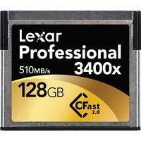 Lexar CFAST 128GB 3400X Memory Card