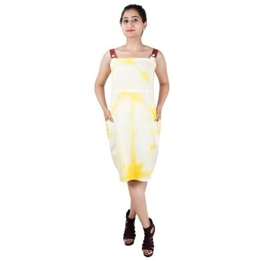 Petal Pock Clamp Dye Dress