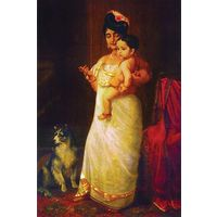 Canvas Painting Woman With Child