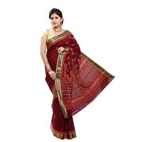 Maroon Cotton Saree