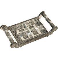 White Metal Dry fruit Tray Handicraft Gift