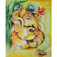 Canvas Wall Painting Lord Ganesha