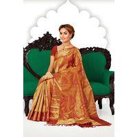 Gold Zari Weaved Pure Silk Saree