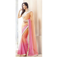 Baby Pink Saree With Pearl Work