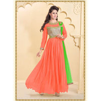 Orange Designer Gown